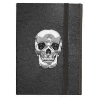 [600] Silver Human Skull iPad Air Case