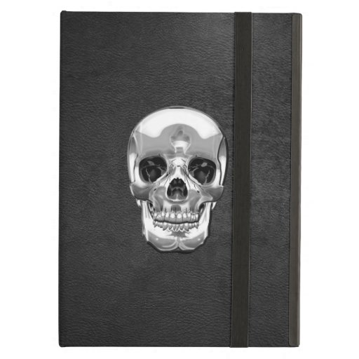 [600] Silver Human Skull Case For iPad Air