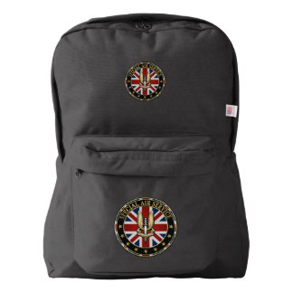 [600] Special Air Service (SAS) Badge [3D] American Apparel™ Backpack