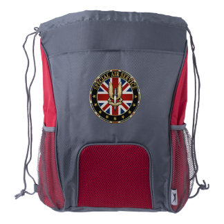 [600] Special Air Service (SAS) Badge [3D] Drawstring Backpack