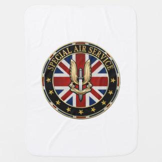 [600] Special Air Service (SAS) Badge [3D] Receiving Blanket