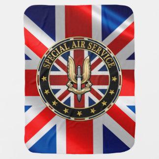 [600] Special Air Service (SAS) Badge [3D] Stroller Blanket