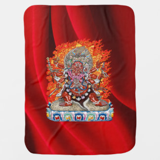 [600] Tibetano Thangka - deidad colérica Hayagriva Mantas De Bebé