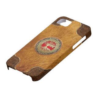 600 Treasure Trove Celtic Tree of Life Gold iPhone 5/5S Cases