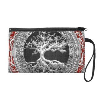 [600] Treasure Trove: Celtic Tree of Life [Silver] Wristlet Purse
