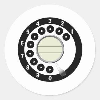 600 Type Classic Round Sticker