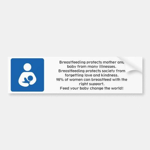 600px-Breastfeeding-icon-med.svg,… - modificado pa Etiqueta De Parachoque