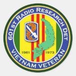601o RRD 2 - ASA Vietnam Pegatina Redonda