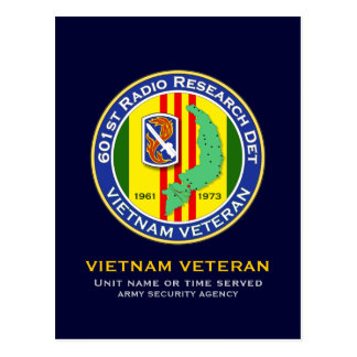 601st RRD 2 - ASA Vietnam Postcard