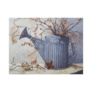 6033 Bittersweeet Watering Can Wrapped CanvasPrint Canvas Print