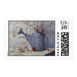 6033 Bittersweet in Watering Can on Quilt Postage