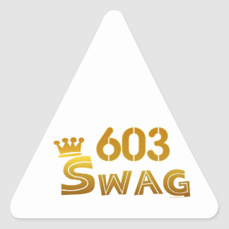 603 New Hampshire Swag Triangle Sticker