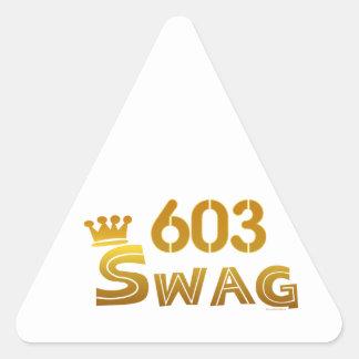 603 New Hampshire Swag Triangle Sticker
