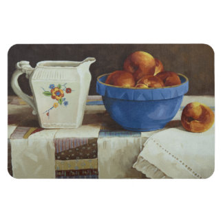 6044 Bowl of Peaches & Pitcher on Quilt Magnet