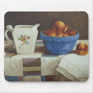 6044 Bowl of Peaches & Pitcher on Quilt Mousepad