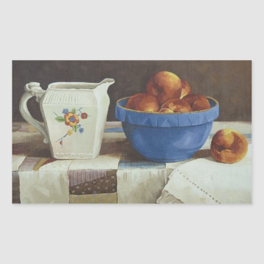 6044 Bowl of Peaches & Pitcher on Quilt Stickers