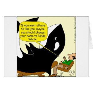 605 orca o dibujo animado de la panda tarjeta de felicitación