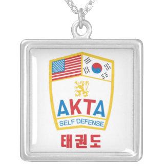 606-1 collar cuadrado de la plata esterlina de AKT