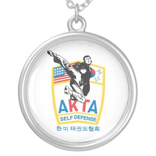 606-3 AKTA Tae Kwon Do Silver Necklace