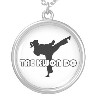606-5-3 Tae Kwon Do Silver Necklace