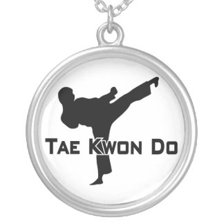 606-6-2 Tae Kwon Do Silver Necklace