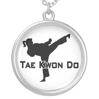 606-6-3 Tae Kwon Do Silver Necklace