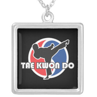 606-7 Tae Kwon Do Silver Necklace