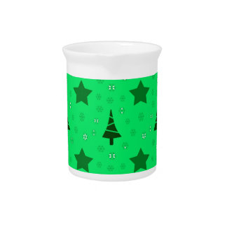 606 Cute Christmas tree and stars pattern.jpg Pitcher