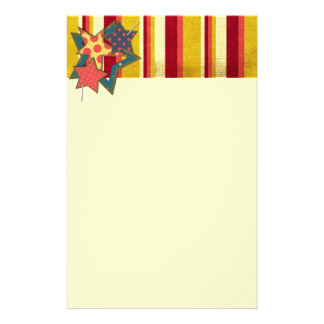 6072 FALL AUTUMN STRIPES BURGUNDY RED GOLDEN YELL STATIONERY