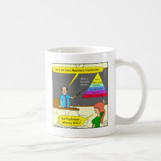607 basic human needs cartoon coffee mug