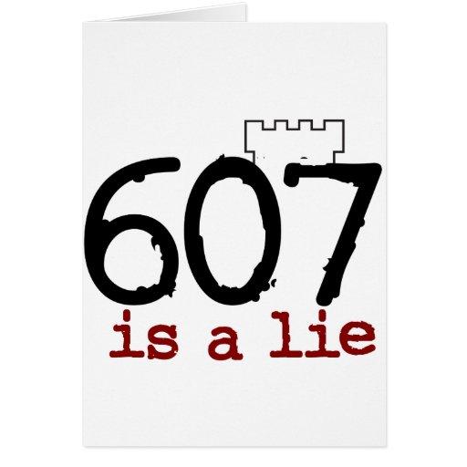 ¡607 es una mentira! tarjetas