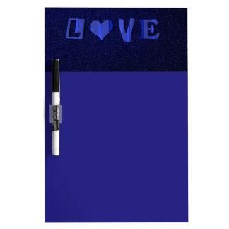 6083 BLUE LOVE TYPOGRAPHY FEELINGS EXPRESSIONS FLI DRY ERASE BOARD