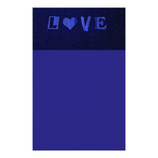 6083 BLUE LOVE TYPOGRAPHY FEELINGS EXPRESSIONS FLI STATIONERY