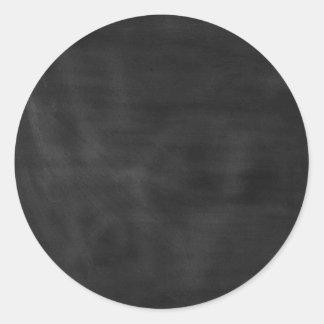 6089 chalkboard BLACK CHALK BOARD TEXTURE GRUNGE T Classic Round Sticker