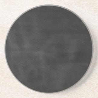 6089 chalkboard BLACK CHALK BOARD TEXTURE GRUNGE T Drink Coaster