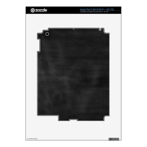 6089 chalkboard BLACK CHALK BOARD TEXTURE GRUNGE T iPad 3 Decal