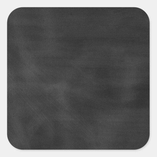6089 chalkboard BLACK CHALK BOARD TEXTURE GRUNGE T Square Sticker