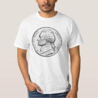 609px-Jefferson-Nickel-Unc-Obv T-Shirt