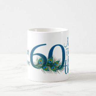 # 60 - 60.o aniversario de boda o 60.o cumpleaños taza básica blanca
