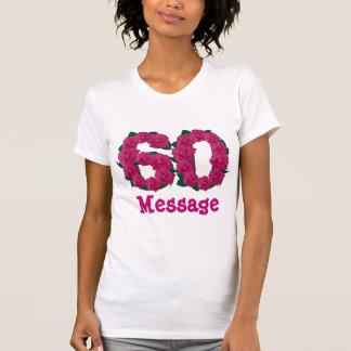 60  60th birthday wedding anniversary pink number T-Shirt