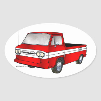 60-61 Corvair Rampside Pickup Oval Sticker