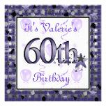 60.a fiesta de cumpleaños feliz InvitationPERSONAL