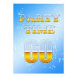 60.a invitación de la fiesta de cumpleaños con la