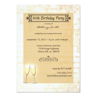 60.a invitación de la fiesta de cumpleaños del