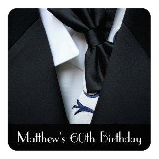 60.a invitación de la fiesta del cumpleaños de los invitación 13,3 cm x 13,3cm