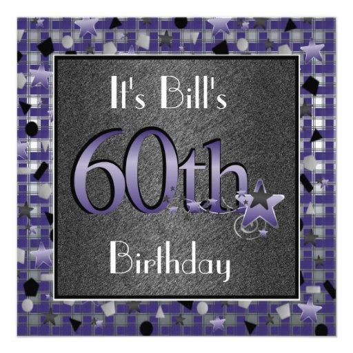 60.a invitación feliz de la fiesta de cumpleaños p