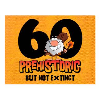 60.a invitación prehistórica de la postal del cump