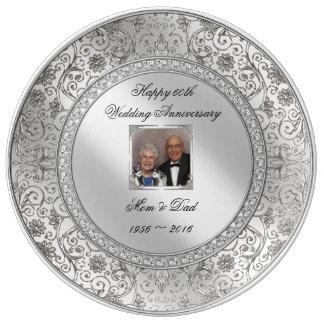 60.a placa elegante de la porcelana del platos de cerámica