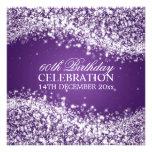 60.a púrpura chispeante elegante de la onda de la invitacion personal
