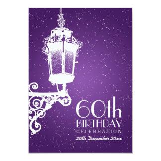 """60.a púrpura elegante de la lámpara del vintage de invitación 5"""" x 7"""""""